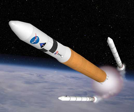 Ares launched in to orbit (artist's conception)