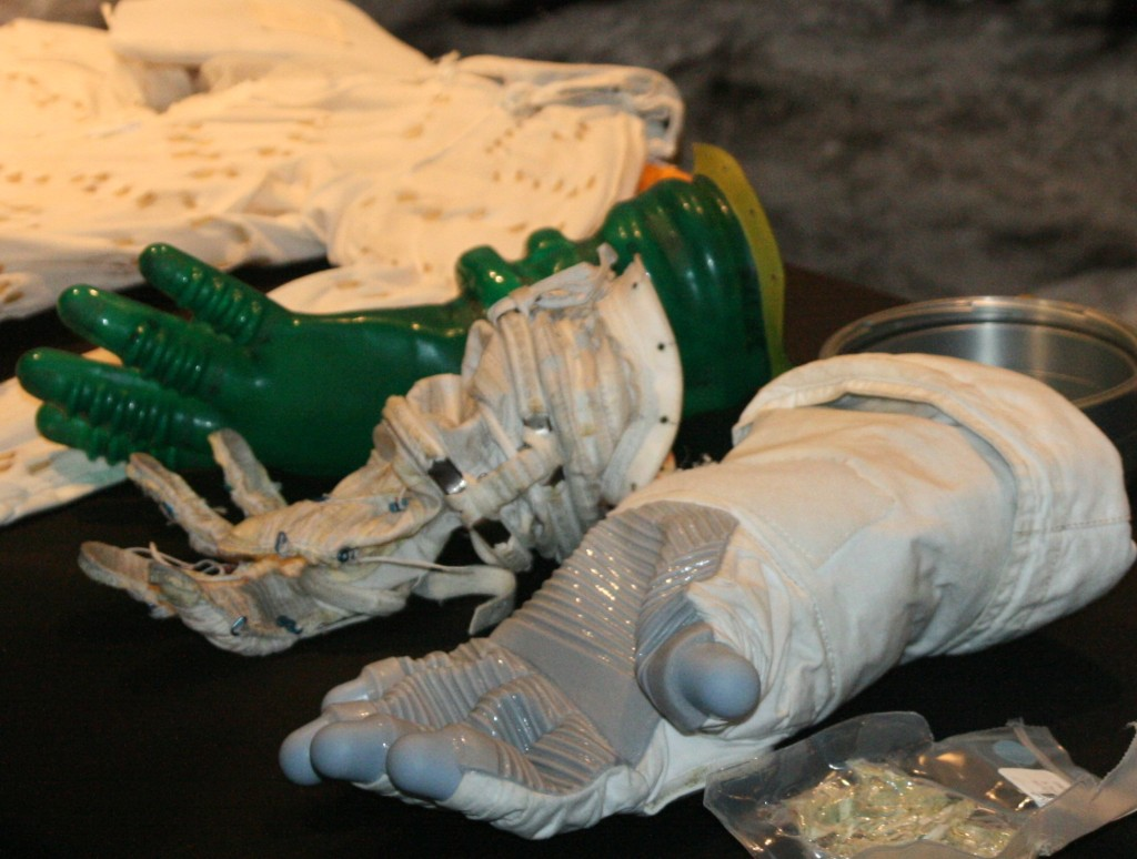 The layers of an actual space glove, as could be seen at World Space Expo 2007, Kennedy Space Center. Image Credit: Rainer Gerhards