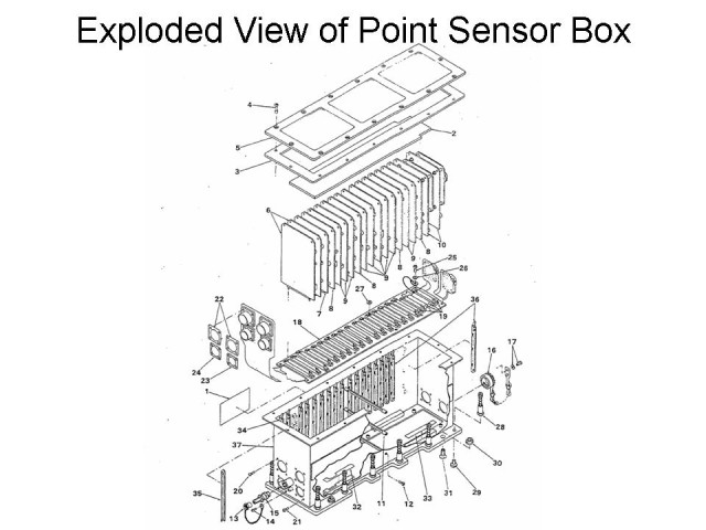 Space Shuttle ECO Sensors: Exploded View of Point Sensor Box