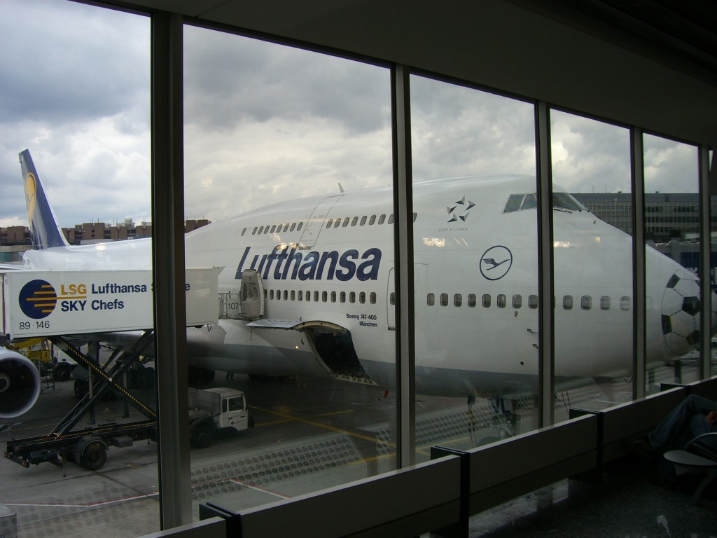 The plane I flew with to the US in 2006