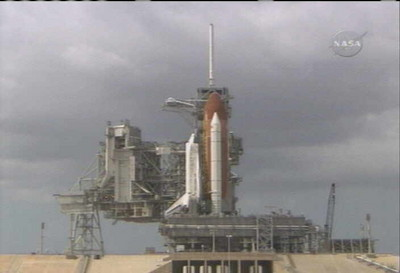 Shuttle Discovery arrived at the launch pad (STS-120 mission)