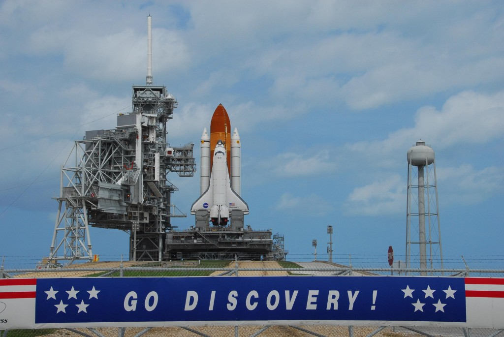 Space Shuttle Discovery at the pad and ready to go.