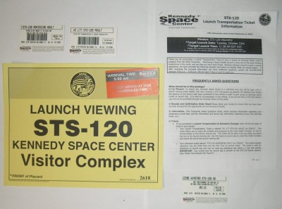 The ticket package you receive when purchasing space shuttle launch viewing including launch transportation tickets (ltt).