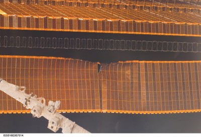 Ripped ISS Solar Array